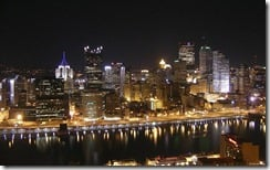 Pittsburgh at night, Pennsylvania, U.S.