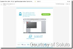 Soluto QQ 2 - how the questions looks in an email