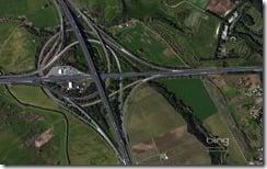 Highway interchangeSouthwest of Tivoli, Italy