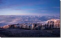 Ice fields at the summit of Mt. Kilimanjaro, Tanzania