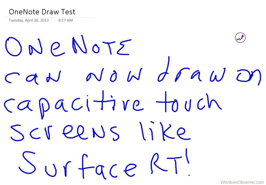 OneNote MX App Gets Updated to Support Drawing on Capacitive Touchscreens