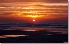 Beach sunrise, Praia Grande, São Paulo, Brazil