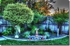 Garden Fountain Corner Painterly 4 HDR