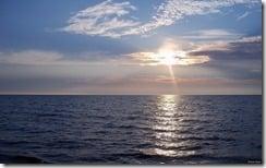 Lake Michigan located near Portage Lake, Michigan, U.S.