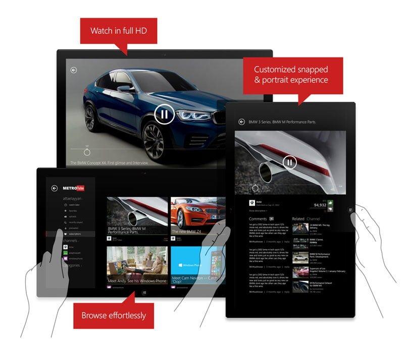 Popular Windows Phone Metrotube App Arrives on Windows 8