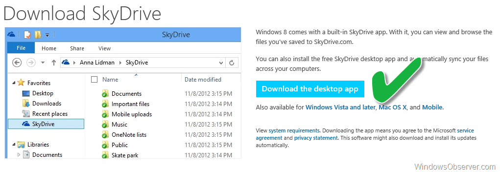 How To Use SkyDrive to Sync Documents and Photos Between Two Computers