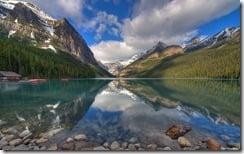 Early morning at Lake Louise, Banff National Park, Alberta, Canada