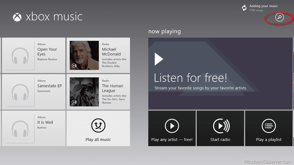 Xbox Music App in Windows 8 Gets Updated Prior to Windows Blue Release