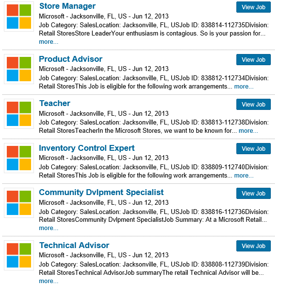 Job Listings Confirm Microsoft Store Coming to Jacksonville, Florida