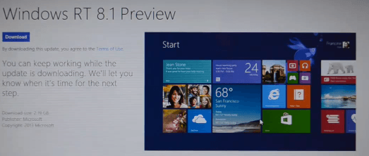 Installing the Windows 8.1 Preview on Microsoft Surface RT (Video)