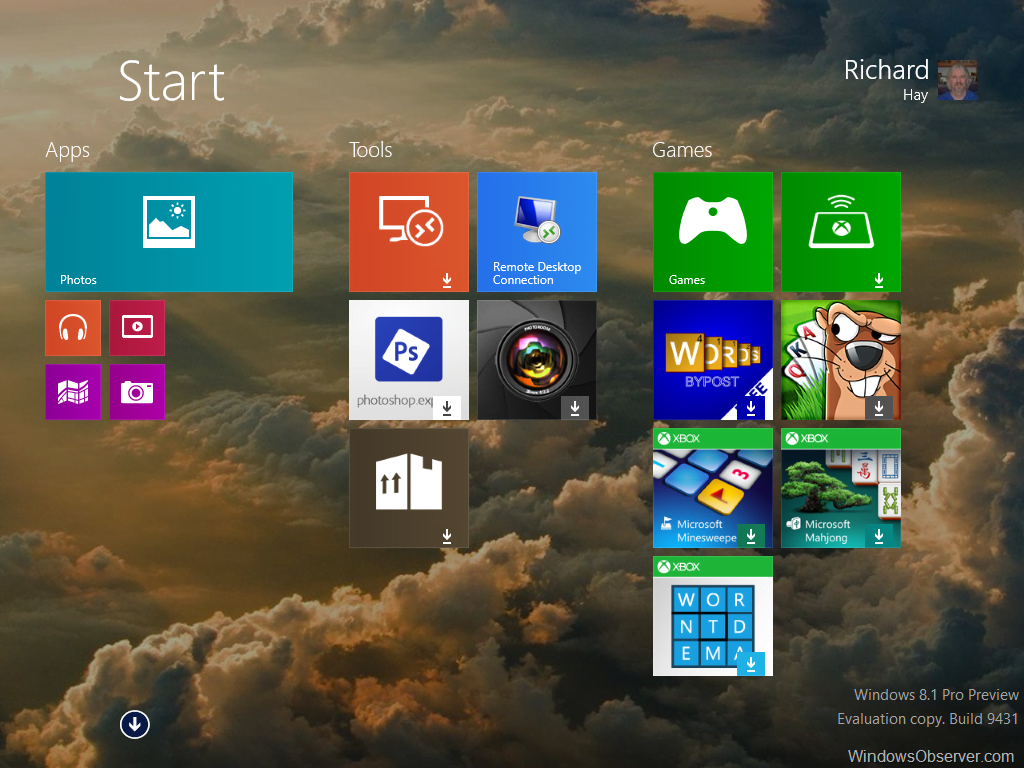 My observations during a clean desktop install of the Windows 8.1 Preview