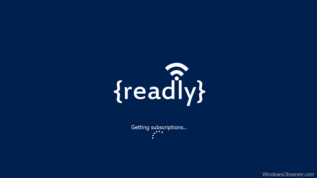 Readly Adds Feedly Cloud Support to their Windows 8 RSS Reader