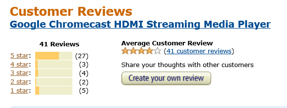 Chromecast is the latest example of the broken online review system