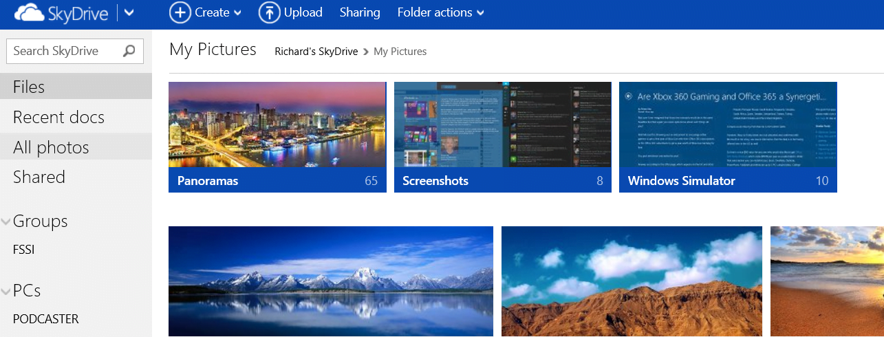 SkyDrive Gets Photo, Sharing and Editing Related Updates