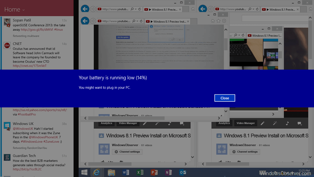 Windows 8.1 Preview on Surface RT Still Fails to Warn Users about Low Battery