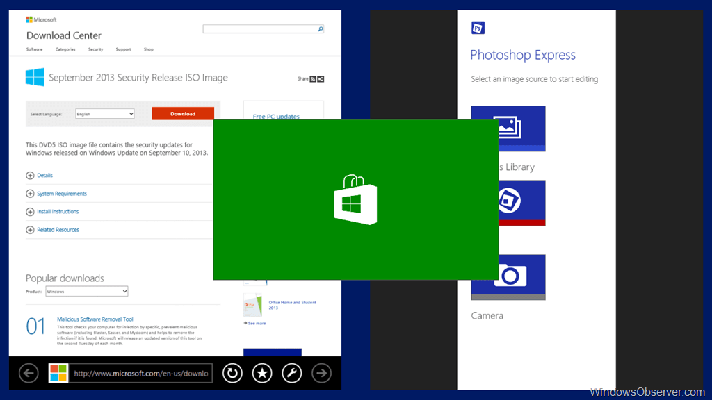 Modern App Multitasking in Windows 8.1 RTM