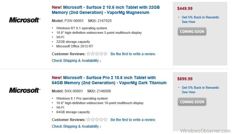 Best Buy Preorders for 2nd Generation Surface Devices Go Live