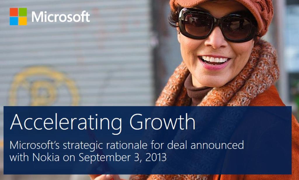 Microsoft publishes their Nokia Acquisition slide set