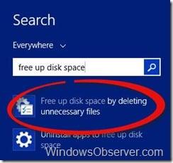searchfreeupdiskspace