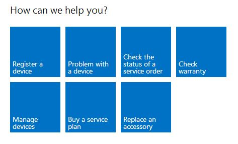 Register your Surface with the Microsoft Online Service Center