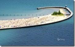 North Avenue Beach on Lake Michigan, Chicago