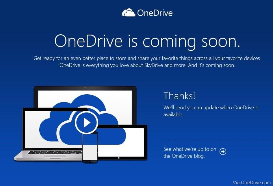 OneDrive Makes a Singular Sense