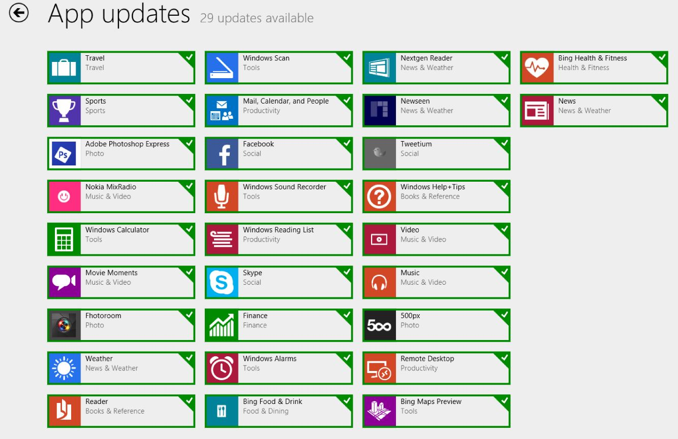 Windows Store Improvements delivered with January Patch Tuesday