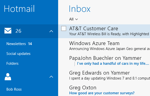 Mail App in Windows 8.1 has over 60 Keyboard Shortcuts
