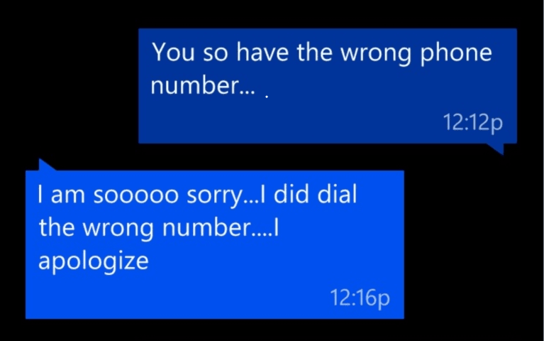 Yikes – Big Time Wrong Number Text Message