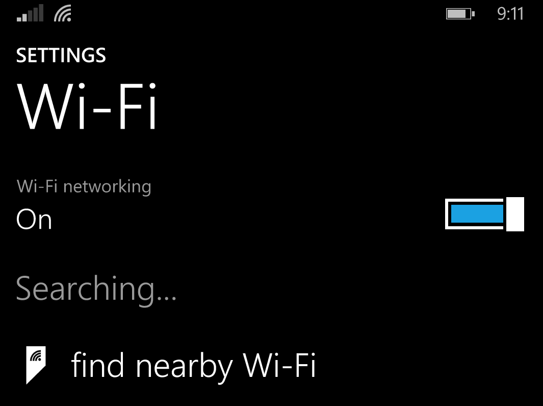 Automatic Wi-Fi on Windows Phone 8.1