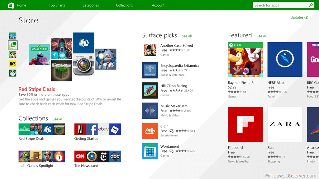 Windows Store receives a refresh in today's Patch Tuesday updates