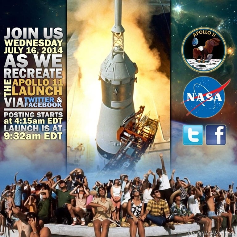 Relive Apollo 11 Launch via Twitter on its 45th Anniversary