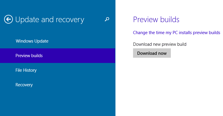 Windows 10 Technical Preview Build 9860 Update Process