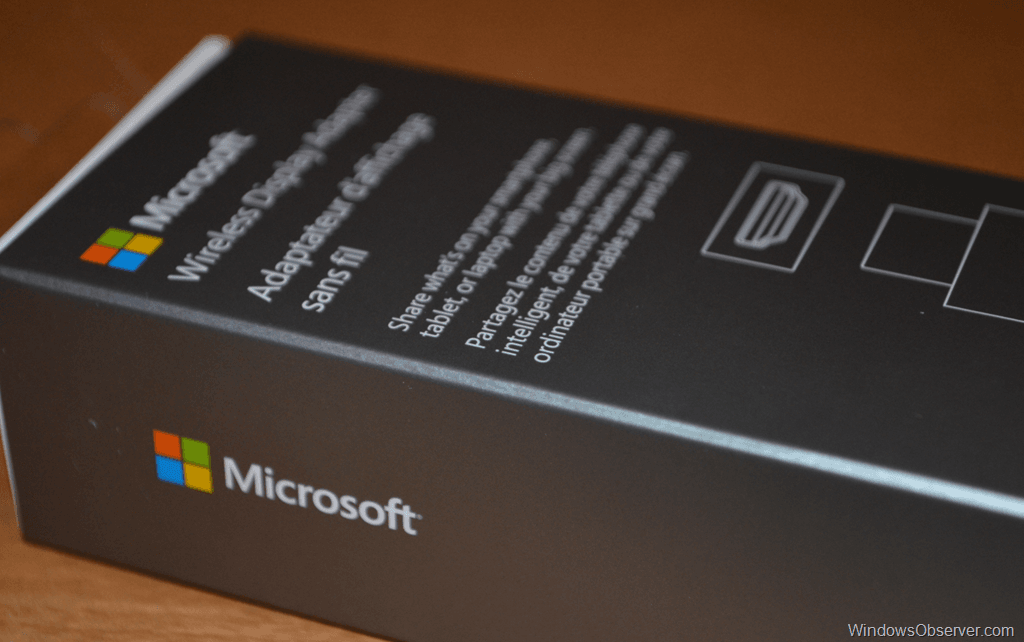 Microsoft Wireless Display Adapter Settings App for Windows 8.1