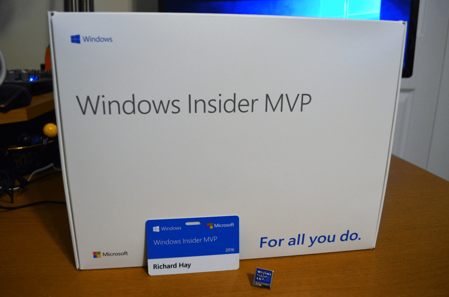 Unboxing the Windows Insider MVP Award