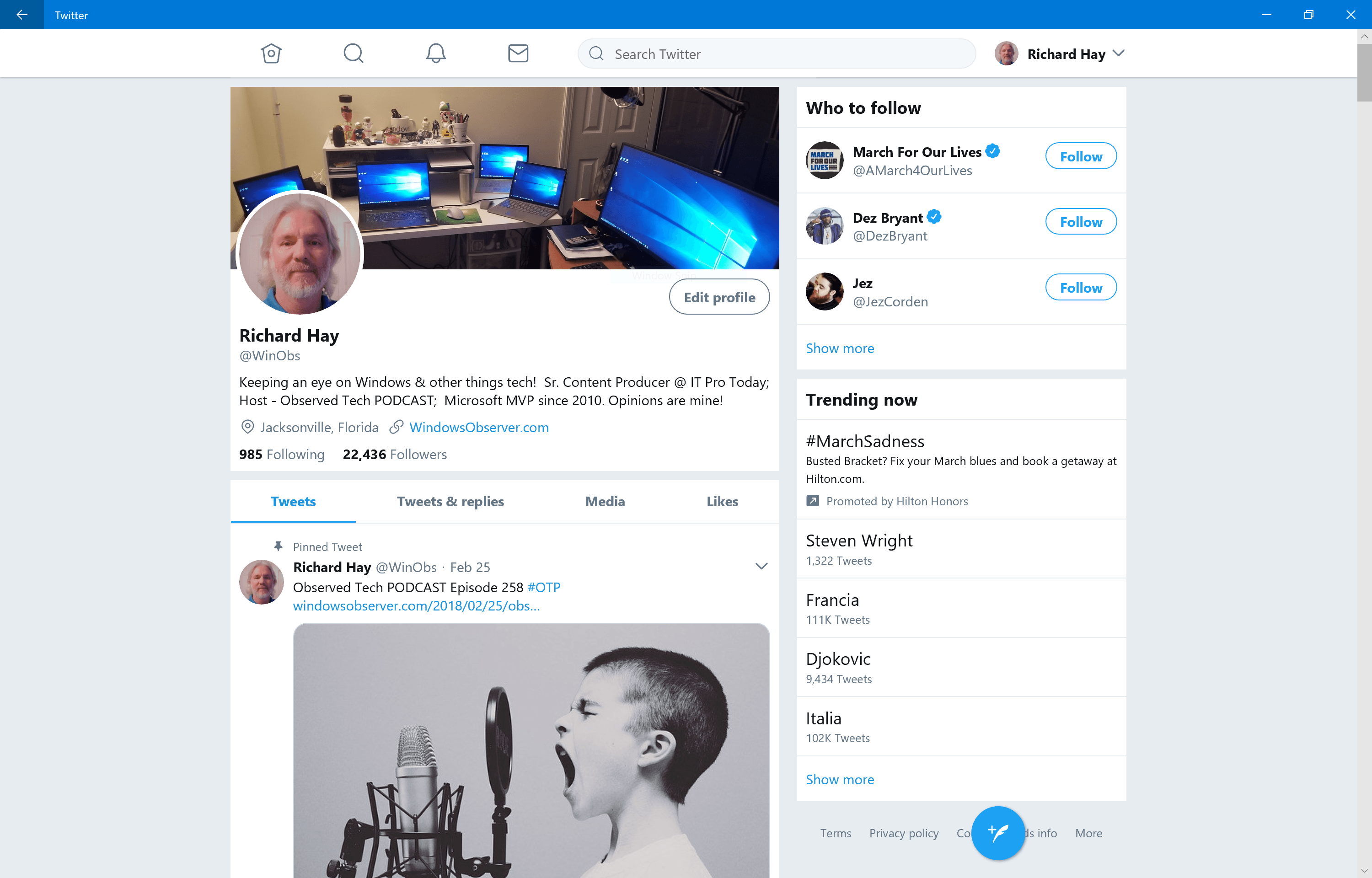 Official Twitter App for Windows 10 Finally Updated