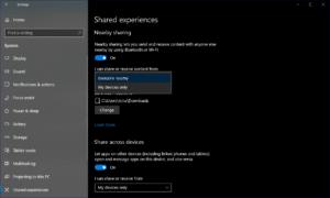 Near Share Options in Windows Settings