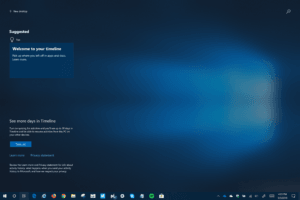 Timeline in Build 17661 with Acrylic Effect