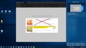 Screen Sketch App with Snip Alert in Action Center
