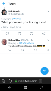 Mobile Twitter Site