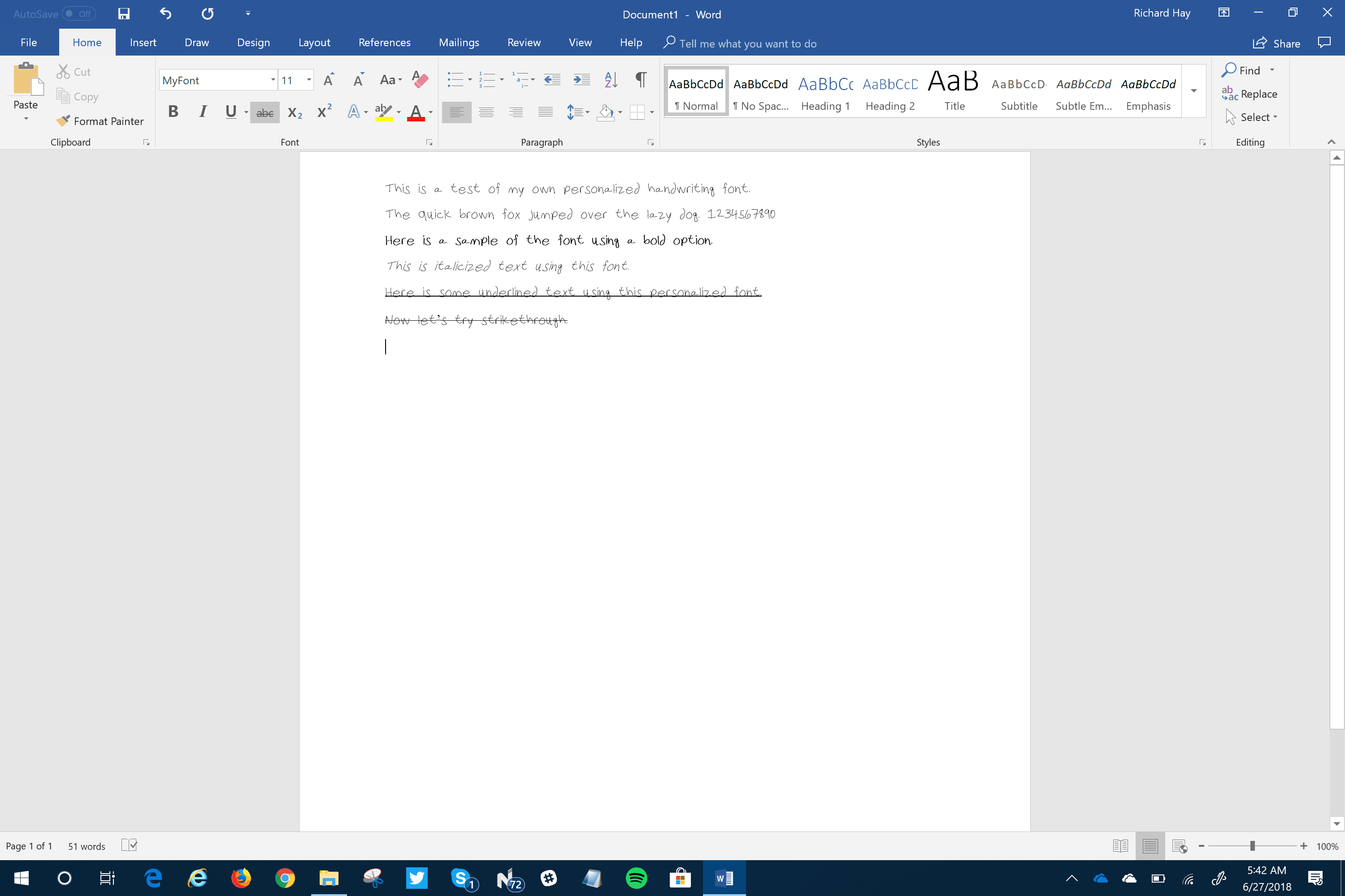 Personalized Font Creation in Windows 10