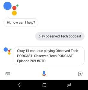 Google Assistant on Samsung S9 Plus