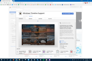 Chrome Extension - Windows Timeline Support