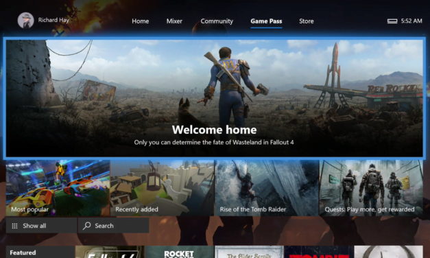 Xbox Game Pass Grabs a Tab on Xbox One Console Home Screen