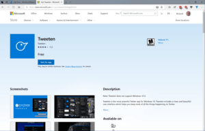 Microsoft Store Old Style Web Listing