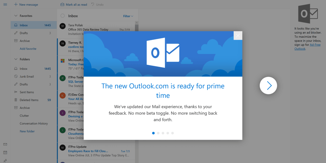 The Outlook.com Beta is Ending as Final Redesign Begins Rolling Out