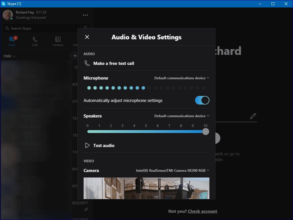Skype Desktop Setup Screen 1