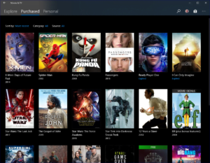 Movies & TV App Purchased History - Windows 10