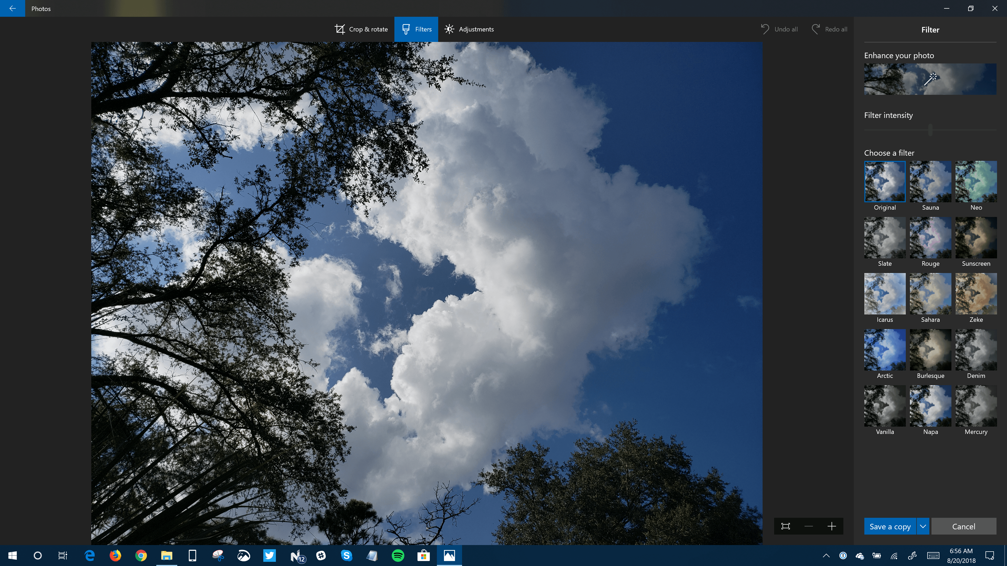 Photos App Edit Screens