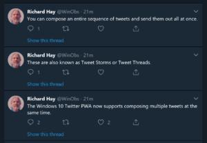 Twitter PWA on Windows 10